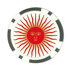 Peru Sun Of May, 1822 1825 Poker Chip Card Guard (10 Pack) by abbeyz71