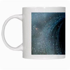 Cosmic Black Hole White Mugs