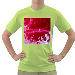 Crystal Flowers Green T Shirt