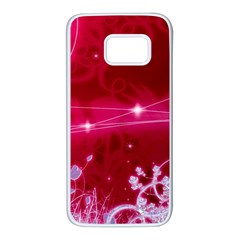 Crystal Flowers Samsung Galaxy S7 White Seamless Case by Sapixe