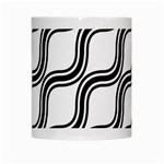 Diagonal Pattern Background Black And White White Mugs Center