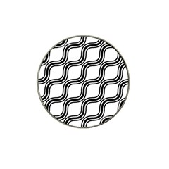 Diagonal Pattern Background Black And White Hat Clip Ball Marker (4 Pack)
