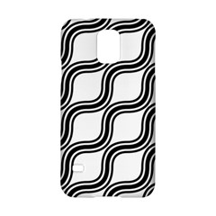 Diagonal Pattern Background Black And White Samsung Galaxy S5 Hardshell Case