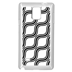 Diagonal Pattern Background Black And White Samsung Galaxy Note 4 Case (white)