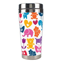 Digital Scrapbook Paper, Vintage Backgrounds And Animales Stainless Steel Travel Tumblers