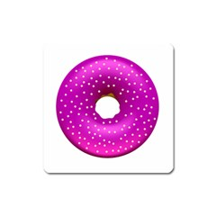 Donut Transparent Clip Art Square Magnet by Sapixe