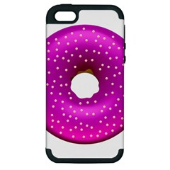 Donut Transparent Clip Art Apple Iphone 5 Hardshell Case (pc+silicone) by Sapixe