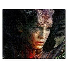 Digital Fantasy Girl Art Rectangular Jigsaw Puzzl