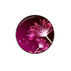 Drawing Flowers Lotus Hat Clip Ball Marker (4 Pack)