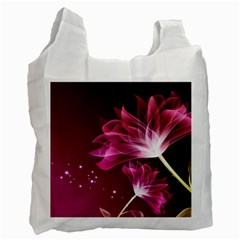 Drawing Flowers Lotus Recycle Bag (two Side)