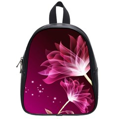 Drawing Flowers Lotus School Bag (small) by Sapixe