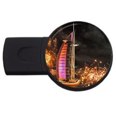 Dubai Burj Al Arab Hotels New Years Eve Celebration Fireworks Usb Flash Drive Round (4 Gb)