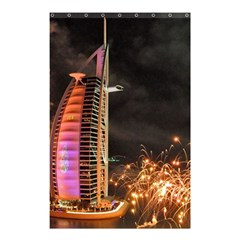 Dubai Burj Al Arab Hotels New Years Eve Celebration Fireworks Shower Curtain 48  X 72  (small)