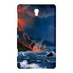 Eruption Of Volcano Sea Full Moon Fantasy Art Samsung Galaxy Tab S (8 4 ) Hardshell Case  by Sapixe