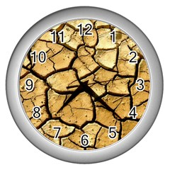 Dry Ground Wall Clocks (silver)