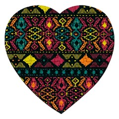Ethnic Pattern Jigsaw Puzzle (heart) by Sapixe