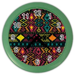 Ethnic Pattern Color Wall Clocks