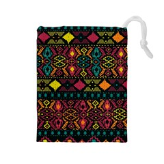 Ethnic Pattern Drawstring Pouches (large)  by Sapixe