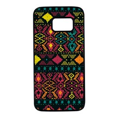 Ethnic Pattern Samsung Galaxy S7 Black Seamless Case