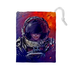Eve Of Destruction Cgi 3d Sci Fi Space Drawstring Pouches (large)