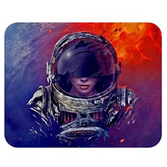 Eve Of Destruction Cgi 3d Sci Fi Space Double Sided Flano Blanket (medium)  by Sapixe