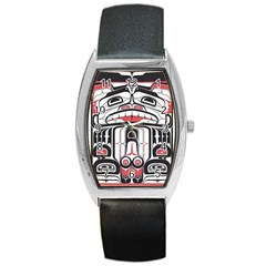 Ethnic Traditional Art Barrel Style Metal Watch by Sapixe