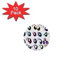 Eyes  Pattern 1  Mini Buttons (10 Pack)