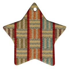 Fabric Pattern Ornament (star) by Sapixe