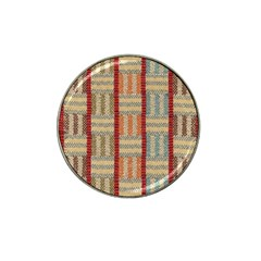 Fabric Pattern Hat Clip Ball Marker (4 Pack)