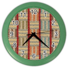 Fabric Pattern Color Wall Clocks