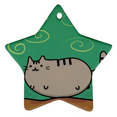 Fat Cat Star Ornament (two Sides)