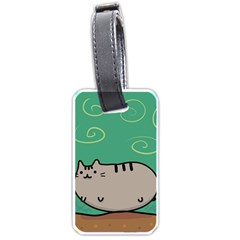 Fat Cat Luggage Tags (one Side)  by Sapixe