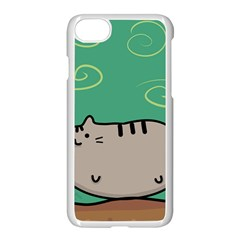 Fat Cat Apple Iphone 7 Seamless Case (white)