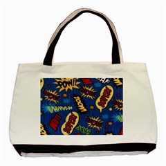 Fabric Comic Words Basic Tote Bag (two Sides)