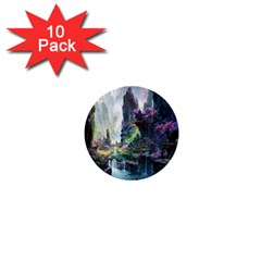 Fantastic World Fantasy Painting 1  Mini Buttons (10 Pack)