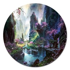 Fantastic World Fantasy Painting Magnet 5  (round)