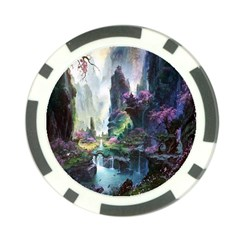 Fantastic World Fantasy Painting Poker Chip Card Guard (10 Pack) by Sapixe