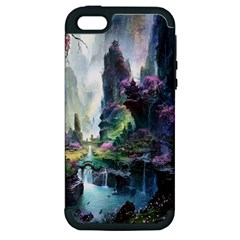 Fantastic World Fantasy Painting Apple Iphone 5 Hardshell Case (pc+silicone)