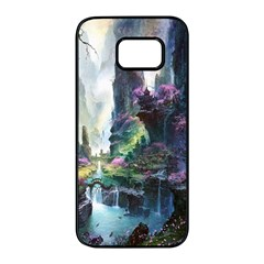 Fantastic World Fantasy Painting Samsung Galaxy S7 Edge Black Seamless Case