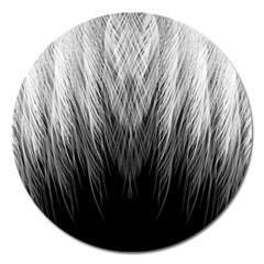 Feather Graphic Design Background Magnet 5  (round)