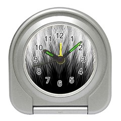 Feather Graphic Design Background Travel Alarm Clocks