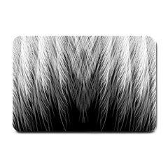 Feather Graphic Design Background Small Doormat  by Sapixe