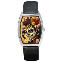 Fantasy Girl Art Barrel Style Metal Watch