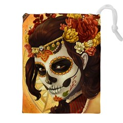 Fantasy Girl Art Drawstring Pouches (xxl) by Sapixe