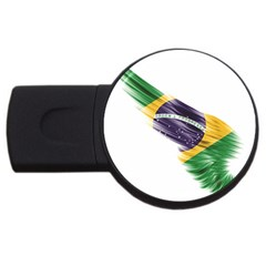 Flag Of Brazil Usb Flash Drive Round (4 Gb)