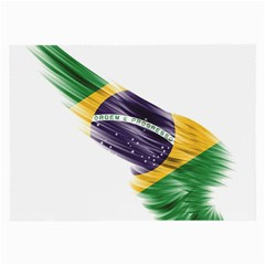 Flag Of Brazil Large Glasses Cloth (2 Side) by Sapixe