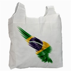 Flag Of Brazil Recycle Bag (two Side)  by Sapixe