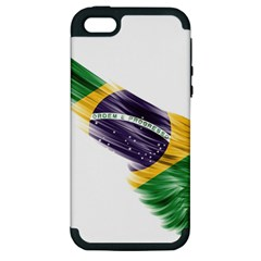 Flag Of Brazil Apple Iphone 5 Hardshell Case (pc+silicone)
