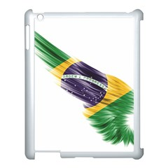Flag Of Brazil Apple Ipad 3/4 Case (white) by Sapixe