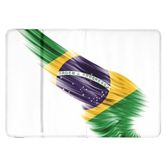 Flag Of Brazil Samsung Galaxy Tab 8 9  P7300 Flip Case by Sapixe